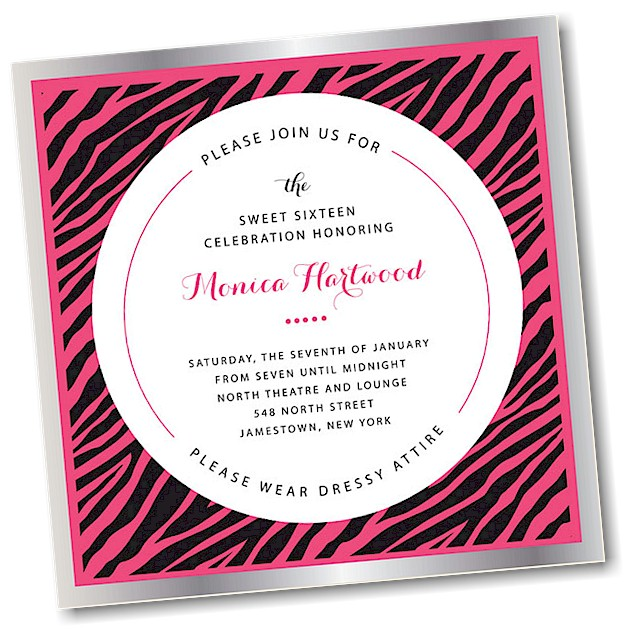 Avante Sweet 16 Invitation