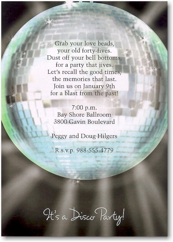 Disco Dance Party Sweet 16 Invitation