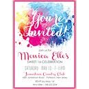 Color Burst Sweet Sixteen Invitation