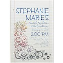 Doodle Sweet 16 Party Invitation