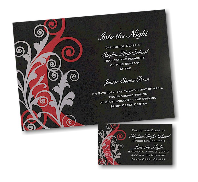 Into The Night Prom Invitation