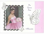 Butterfly Path in Pink<BR>Quinceanera Invitation
