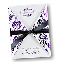Damask Delight Quince Años Invitation