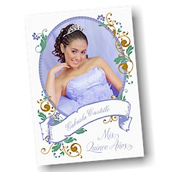 Portrait of Beauty Quince Años Invitation