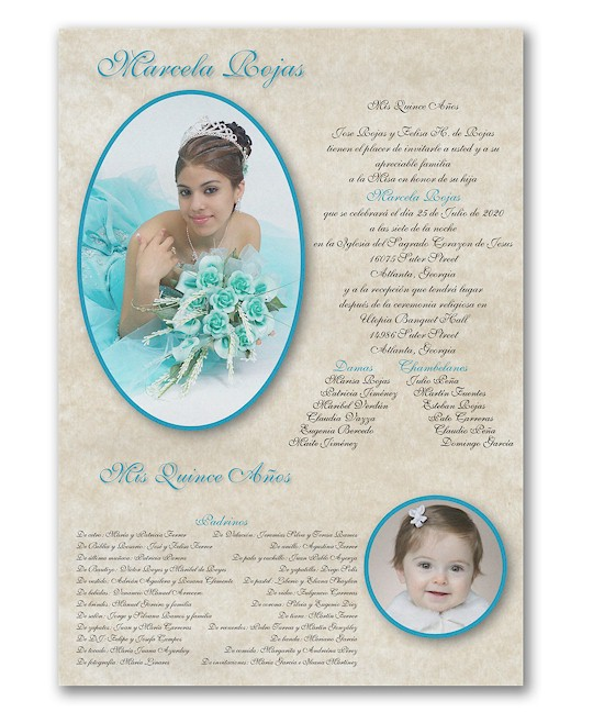All Grown Up Quince Años Invitation Scroll