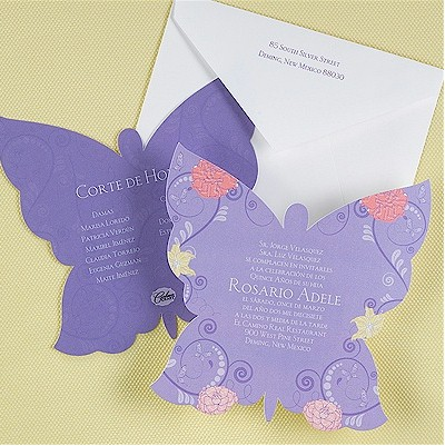 Butterfly Quinceanera Invitations with beautiful invitations example