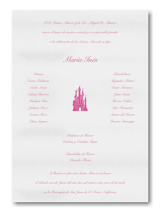 Fit For A Princess Quince Anos Invitation Scroll