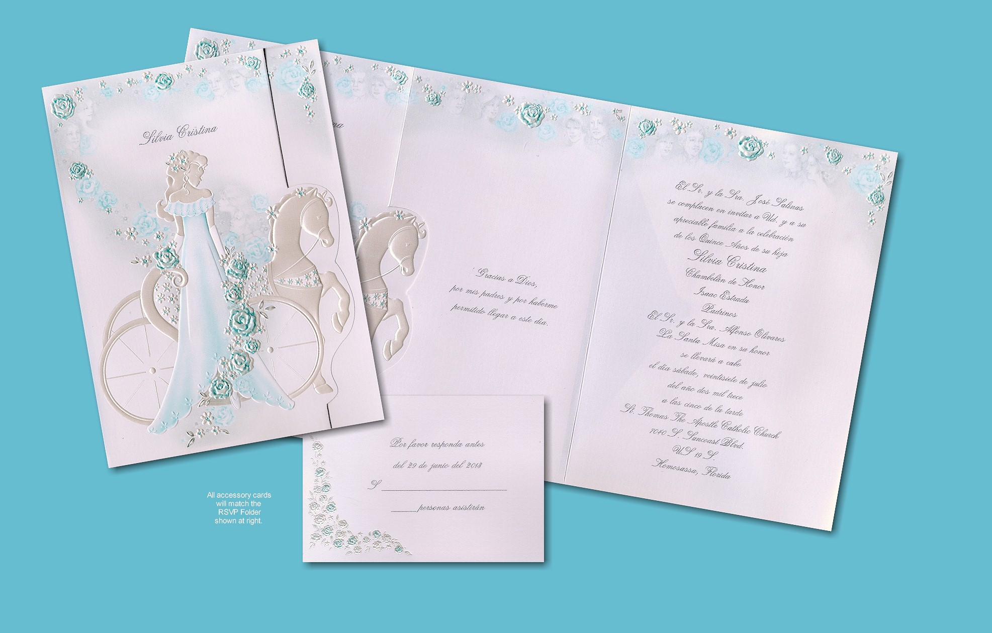 Scroll Quinceanera Invitations with awesome invitation template
