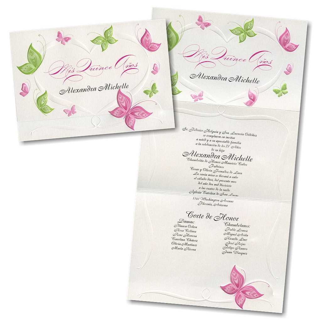 Graceful Butterflies Quinceanera Invitation