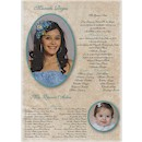 All Grown Up Quince A�os Invitation Scroll
