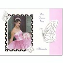 Butterfly Path in Pink Use Your Own Photo  Quince A�os Invitation