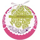 Circle Layers Quince A�os Invitation