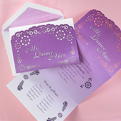 Lovely Lavender Quince Años Invitation
