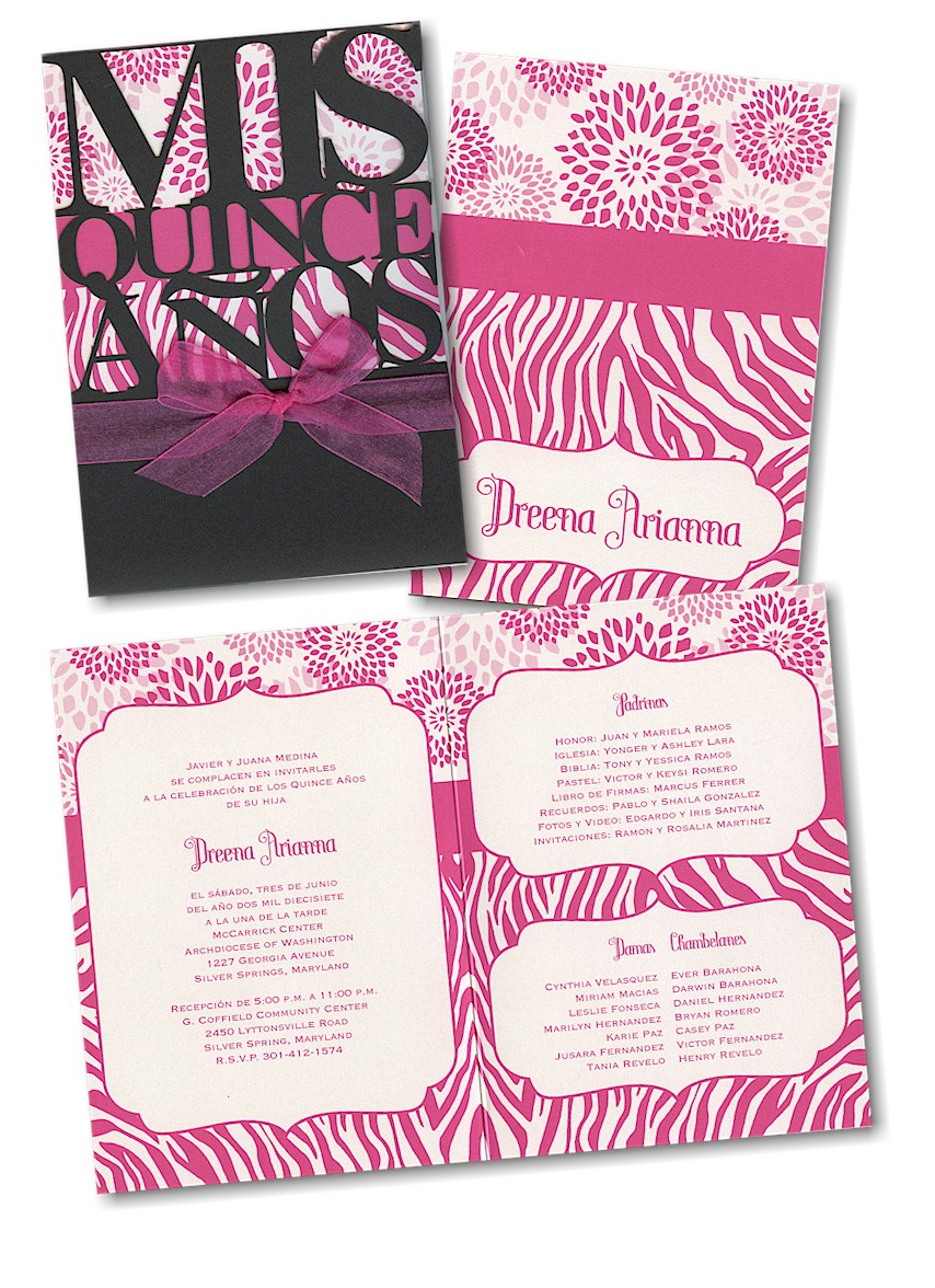 Pretty Patterns Quinceanera Invitation