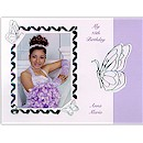 Butterfly Path in Purple Use Your Own Photo  Quince A�os Invitation